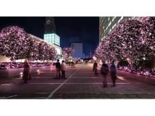 新宿テラスシティがピンクのやさしい光に包まれる!