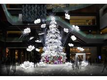 花々とイルミ輝くグランフロント大阪のクリスマス