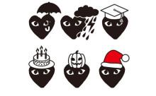 """""""リトルレッドハート""""がクリスマス仕様に!コムデギャルソンの絵文字アプリがかわいい♡"""