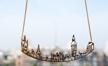 旅の記憶を胸元に♡都市の街並みをデザインしたランドスケープネックレスがカワイイ