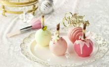 一口サイズがうれしい♪品プリのロリポップ型クリスマスケーキが可愛すぎる♡