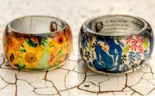 まるでステンドグラス!ゴッホやマティスの有名アートをモチーフにしたリングが素敵