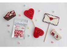 17層重ねのキャンディとチョコでキュートなバレンタイン