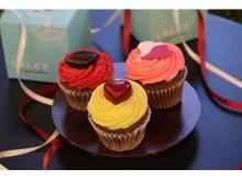 チョコよりキュートな贈り物…ハートづくしのカップケーキ!