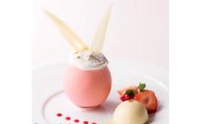 うさ耳がぴょん♡苺ショートが入ったピンクの卵チョコで今年のイースターをお祝いしたい!