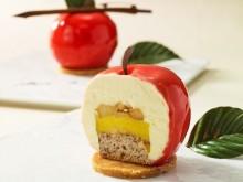 リンゴそっくり!フォトジェニックなホテルデザート