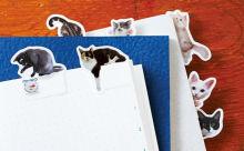 ノートを開くたびキュンキュンしちゃう♡フェリシモ猫部の「猫ふせん」が超絶キュート!