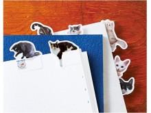 猫がノートに遊びにきた!?目が合うたび癒される付箋に第2弾