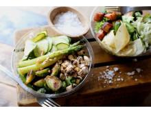 芽キャベツ、アスパラ、青りんご、五感で味わう春サラダ