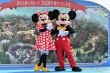 """ディズニーランド""""開園以来最大規模""""新エリア開発へ向け起工式 ミッキー&ミニーも駆けつける"""
