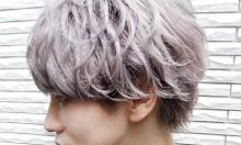 メンズ&ショートヘアもハイトーンヘアと毛束感で透明感とシャープさを!