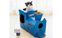 出発進行ニャ!「フェリシモ猫部」のつめとぎ付き「にゃんこ専用機関車ハウス」がラブリー♪
