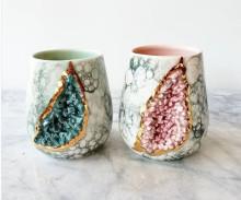 ずっと眺めていたい♡ジオードをモチーフにした陶器のコップが美しすぎる