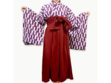 「ハイカラさんルームウェア」に新色「薄紫×緋」が登場!