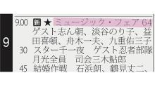 ミュージックフェア第1回は、東京オリンピック開催の1カ月前に放送されていた