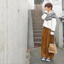 GUのノルディックセーターがほっこりかわいい♡カジュアルGIRLの着回し5days