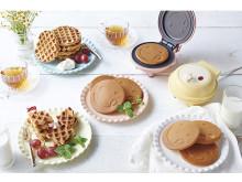 ミニパンケーキ&ワッフルが簡単に焼けるホットプレート!