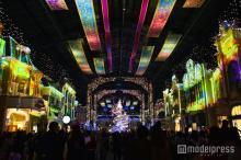 ディズニー35周年、ワールドバザールで初プロジェクションマッピング<セレブレーションストリート>