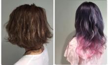 """【派手カラーにしたい人向け】夏は『紫カラー』一択!!""""バイオ×ピンク""""で派手にキメちゃう♡"""