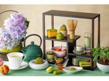 緑色が鮮やかに映える「抹茶づくしのアフタヌーンティー」
