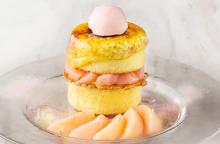 桃×クレームブリュレ×パンケーキ♡ホテル インターコンチネンタル 東京ベイのハイブリッドスイーツ