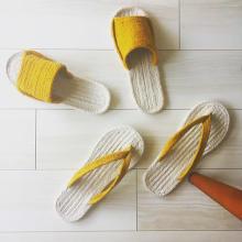 丸洗いもできて衛生的。無印良品のインド綿ルームサンダルがこれからの季節にぴったり