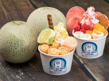 暑い日に食べたいさっぱりテイスト♩ロールアイスクリームファクトリーの季節限定メロンづくし&ピーチづくし!