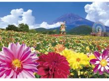 """富士山×3万株のダリア!遊園地ぐりんぱで""""天空のダリア祭り"""""""