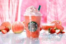 スタバの新作はピンク色♡「ピーチ ピンク フルーツ フラペチーノ」が7月20日に発売