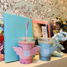 ピンク&ブルーの2種類♡モケスハワイ中目黒店にゆめかわな「ビーガンドリンク」がお目見え♩