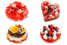 """アートみたいに美しいカフェコムサのクリスマスケーキの予約が開始!""""あまおう""""使用の豪華なケーキなど4種"""