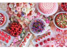 花いっぱいの空間で楽しむ花&イチゴのデザートビュッフェ
