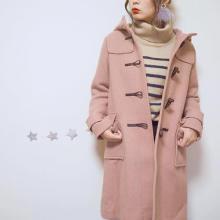 【GU】5000円でGETできるダッフルコートが大人気♡くすみピンクの差し色でおしゃれコーデに♩