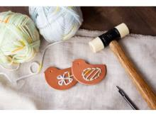 土屋鞄ランドセル専門店で、革のことりブローチを作ろう!