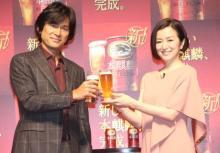 江口洋介、鈴木京香からのお酌に照れ「つながりができていい」 第3のビール党宣言も