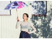 素敵な日傘を眺めながら特別なコーヒーを味わう展示会