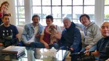 『めざまし』の人気コーナー「きょうのわんこ」特別版 オーランド・ブルーム&パリス・ヒルトンの「わんこ」お披露目