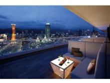 最上階バーのテラス席で神戸の絶景を見ながらお酒を味わおう!