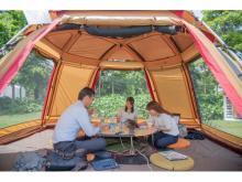 キャンプみたい!品川の広大な緑地空間に非日常オフィスが出現