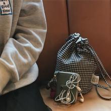 おしゃれ女子は必ずGETしたい!「she said that」のギンガムチェック柄の巾着バッグがかわいすぎるの♡