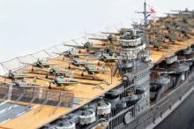 """【1/700 スケールモデル】艦載機のサイズはわずか1センチ、旧日本海軍 航空母艦「赤城」に見る""""不完全さ""""の魅力"""
