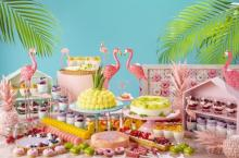 トロピカル&最強カラフルな世界観♩ヒルトン名古屋、夏のビュッフェは「フラミンゴ」がテーマ♡