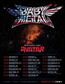 BABYMETAL、9月からアメリカツアーへ フェス1本含む全20公演発表