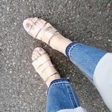 GUのクリアサンダルでトレンドライクな足元に♡IGで見つけた足元コーデと共にご紹介します♩