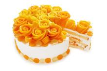 """マンゴーでできた美しいバラにうっとり♡カフェコムサに5月22日限定で""""マンゴーローズのショートケーキ""""が登場"""