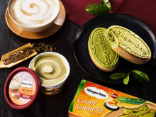 抹茶&ほうじ茶を味わう2種♡ハーゲンダッツ、和のクリスピーサンド&ミニカップが同時発売!