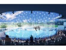 """京都水族館のイルカスタジアムで""""ずぶぬれ""""覚悟の水遊び!"""