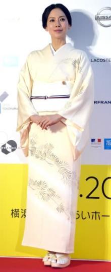中谷美紀「フランス映画は青春の象徴」 着物姿で映画祭来場