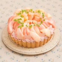 """旬の桃を使ったキュートなタルトやデザートが食べたい♡ラ・メゾン アンソレイユターブルで""""ピーチマルシェ""""が開催"""