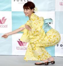 新井恵理那、浴衣姿でボディラインに自信「挑戦の夏です」
